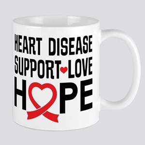 Heart Disease Support Awareness Mugs