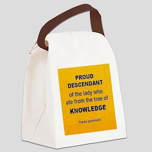 Proud Descendant Canvas Lunch Bag