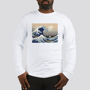 The Great Wave by Hokusai Long Sleeve T-Shirt