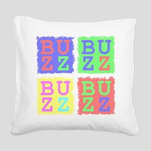 Buzz Square Canvas Pillow