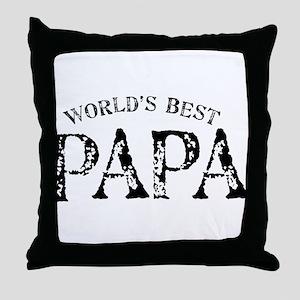 World's Best Papa Throw Pillow