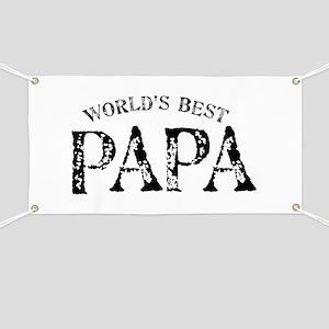 World's Best Papa Banner