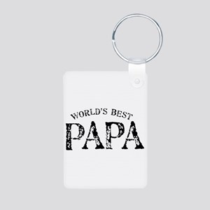World's Best Papa Aluminum Photo Keychain