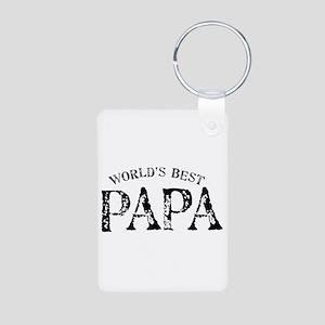 World's Best Papa Aluminum Photo Keychain