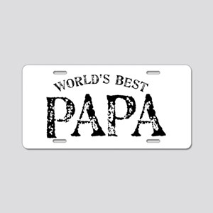 World's Best Papa Aluminum License Plate