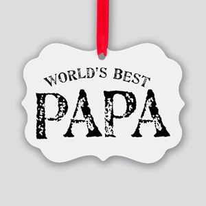 World's Best Papa Picture Ornament