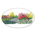 Flower Garden Oval Sticker