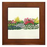 Flower Garden Framed Tile