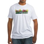 Flower Garden Fitted T-Shirt