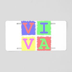 Viva Aluminum License Plate