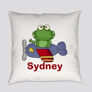 Sydney's Flying Frog Everyday Pillow