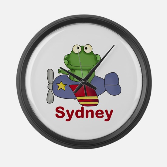 Sydney's Flying Frog Large Wall Clock