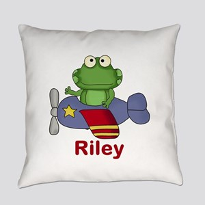 Riley's Flying Frog Everyday Pillow