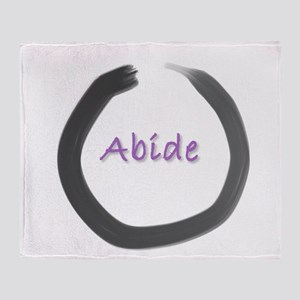 Abide Zen Circle shower Throw Blanket