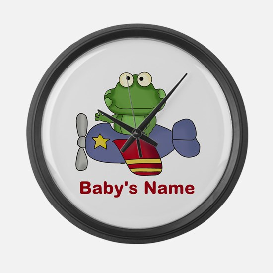 Baby's Flying Frog Large Wall Clock