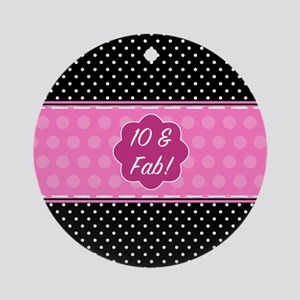 Funny 10th Birthday Round Ornament