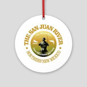 San Juan River Round Ornament