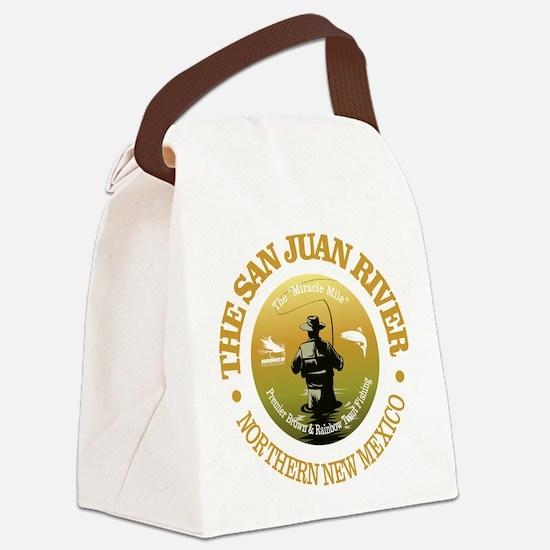 San Juan River Canvas Lunch Bag
