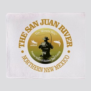 San Juan River Throw Blanket