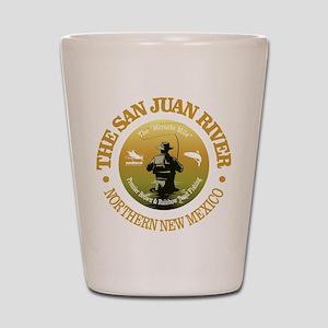 San Juan River Shot Glass