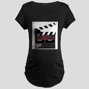 Digital Clapper Board Maternity T-Shirt