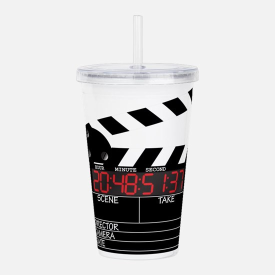 Digital Clapper Board Acrylic Double-wall Tumbler