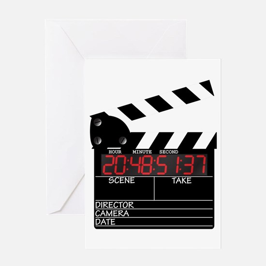Digital Clapper Board Greeting Cards