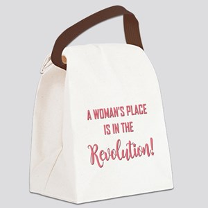 A WOMAN'S PLACE... Canvas Lunch Bag