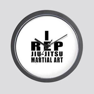 I Rep Jiu-Jitsu Martial Arts Wall Clock