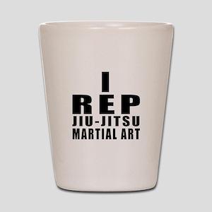 I Rep Jiu-Jitsu Martial Arts Shot Glass
