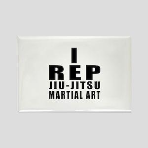 I Rep Jiu-Jitsu Martial Arts Rectangle Magnet