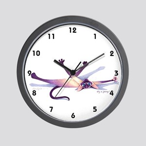 J. S. Perry Whimsical Siamese Cat Wall Clock