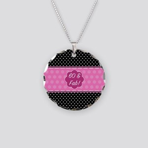 60th Birthday Fabulous Necklace Circle Charm