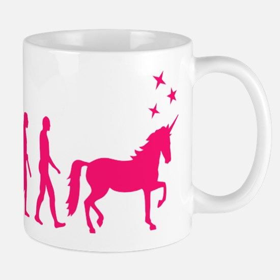 Evolution unicorn Mugs