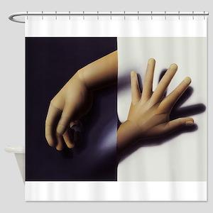 Paper Hands Shower Curtain