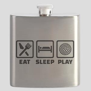Eat Sleep Play Golf Flask