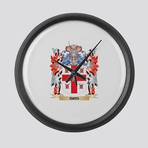 Bris Coat of Arms - Family Crest Large Wall Clock