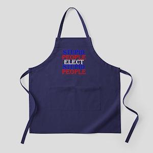 Stupid People Elect Stupid People Apron (dark)