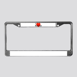 I Love Kansas License Plate Frame