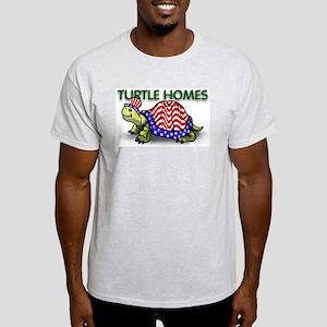 Turtle Homes CartoonTurtle Grey T-Shirt