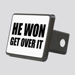 He Won Get Over It! Bold Rectangular Hitch Cover