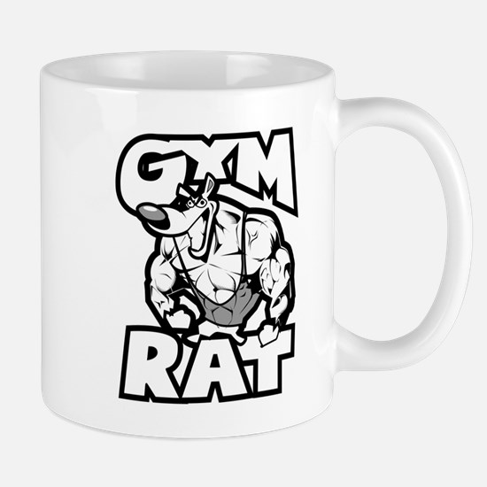Gym Rat b/w Mugs