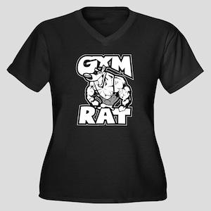 Gym Rat b/w Plus Size T-Shirt