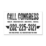 Call Congress Rectangle Car Magnet