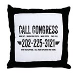 Call Congress Throw Pillow