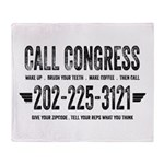 Call Congress Throw Blanket