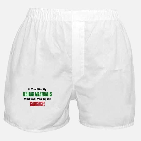 Italian Meatball Sausage Shirt Boxer Shorts