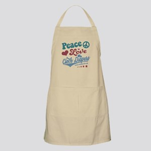 Peace Love & Cloth Diapers Apron