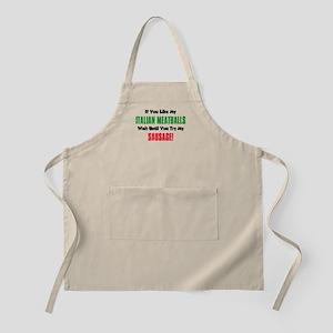 Italian Meatball Sausage Shirt Apron