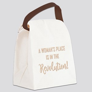 A WOMAN'S PLACE Canvas Lunch Bag
